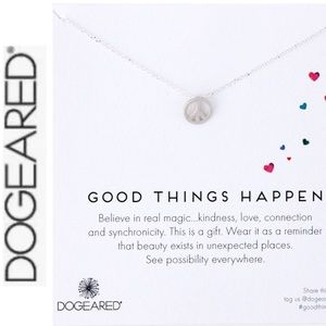NWT Dogeard Good Things Happen Silver Necklace